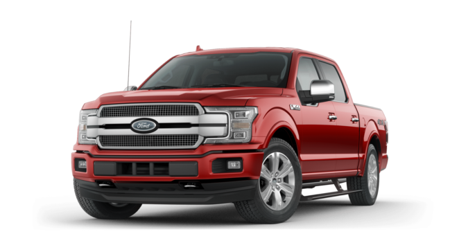 2018 Ford F-150 Platinum in Ruby Red