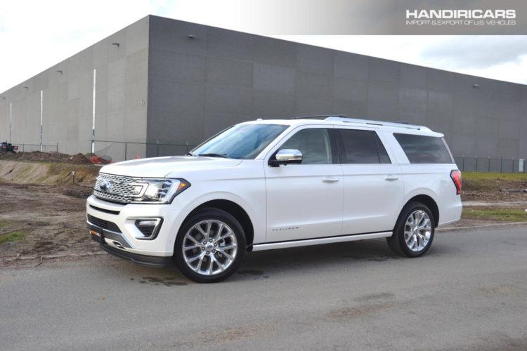2018 Ford Expedition MAX Platinum 4x4 in White Platinum Metallic Tri-Coat